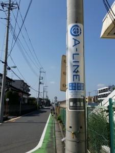 A-LINE不動産、電柱看板、JR東浦和駅前